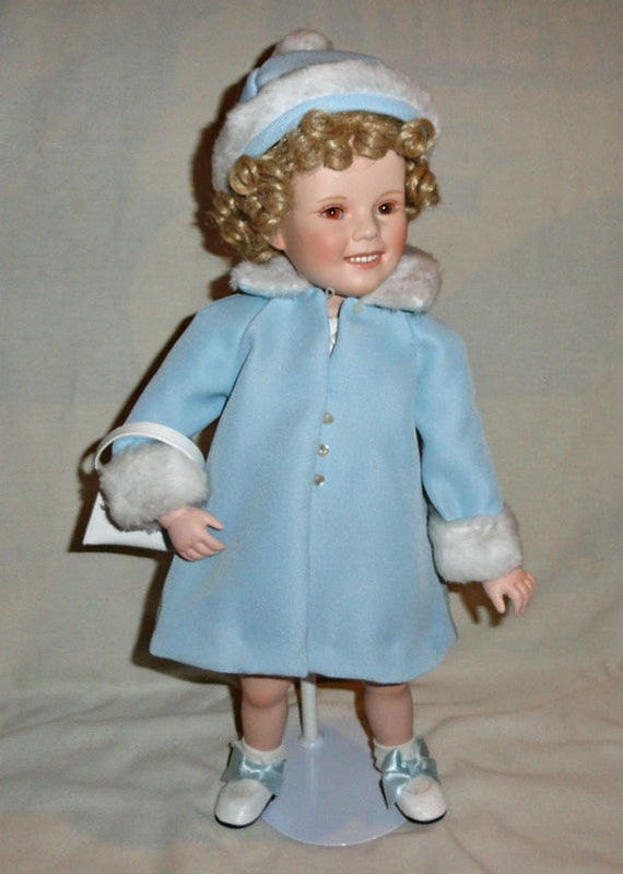 FREE SHIPPING Danbury Mint Sunday Best Shirley Temple Toddler Standing Blonde Porcelain Doll
