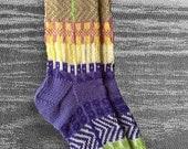 Socks, Hand Knit Unique Socks, Men Socks, Women Socks, Icelandic Original Design, Hand knit , Boho Socks, Hipster Socks, Made To Order