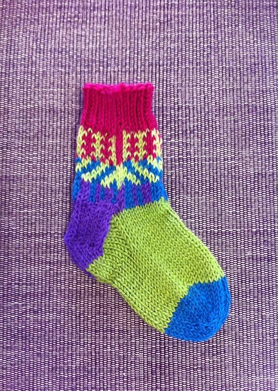Hand Knit Washable Unique Socks, Stroller Socks, Boys, Girls, Baby, Unique Icelandic Original Design - Washable Wool - MADE TO ORDER