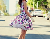 50's Inspired Floral Dress