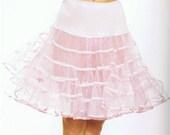 White Crinoline Petticoat Knee Length