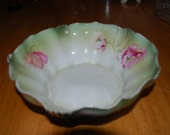 vintage Nippon china 3 footed  bowl vintage hand painted bowl 20 % off