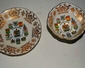 Paragon China Tea cup and saucer  Canadian Coat of Arms  gold china