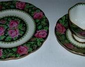 Sale  Royal Albert  bone china 3 piece set china trio needlepoint pattern