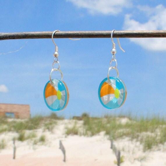 Beach Ball Earrings Free Shipping