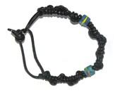 Leather Bracelet Black Leather Cord