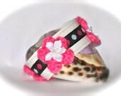 Child Bracelet Pink White Black  Gift