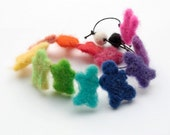 Colorful needle felted necklace