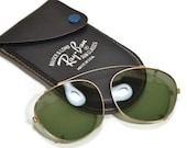 Ray Ban Clip On Sunglasses Bausch & Lomb Aviator Style Original Case