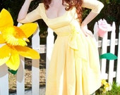 1960's Party Dress Bye Bye Birdie Ann Margret Reproduction Yellow Dress Retro Rockabilly PinUp Gorgeous Dress Custom Colors Available
