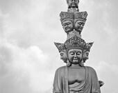 Buddha China Fine Art Print Zen Photography Black and white 12x18 20x30