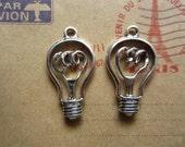 10pcs 31x17mm antique silver lamp bulb charms pendant B425