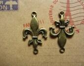 30pcs 31x18mm antique bronze beautiful charms pendant R23355