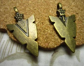 20pcs 31x16mm antique bronze arrow charms pendant C1640