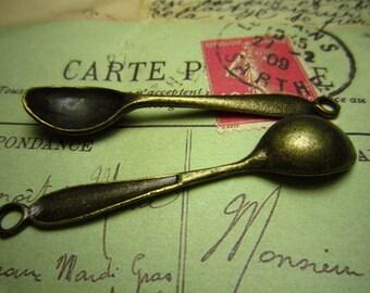 10pcs 54x11mm antique bronze spoon charms pendant R22964