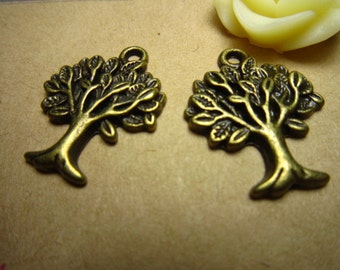20pcs 20x16mm antique bronze tree charms pendant R20710