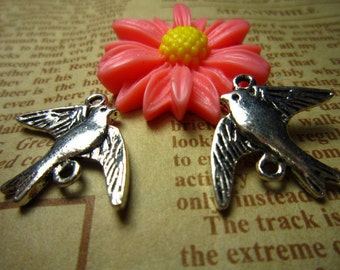 30pcs 21x16mm antique silver swallow bird charms pendant R16986