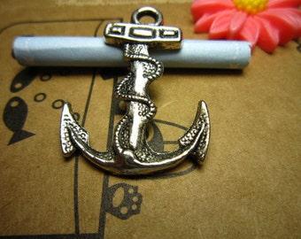 20pcs 32x24mm antique silver anchor charms pendant R20635