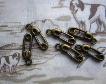 50pcs 15x6mm antique bronze charms pendant R23311
