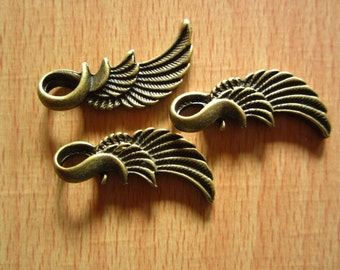 20pcs 32x10mm antique bronze wing flyer charms pendant R21112