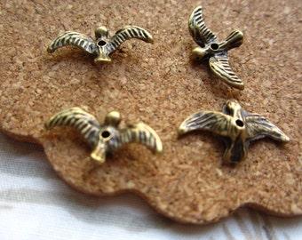 50pcs 17x10mm antique bronze swallow bird charms pendant R21096