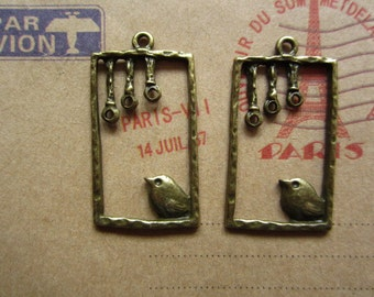 20pcs 30x18mm antique bronze bird charms pendant R20913