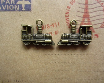 20pcs 22x17mm antique bronze train charms pendant C3951