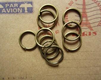 100pcs 14mm antique bronze jump ring R25139