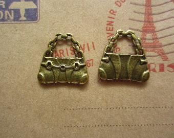 50pcs 16x16mm antique bronze bag charms pendant  R21888