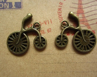20pcs 25x24mm antique bronze  bicycle bike charms pendant R19708