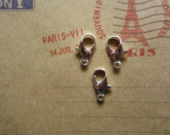 100pcs 12x5mm silver lobster clasp R17578