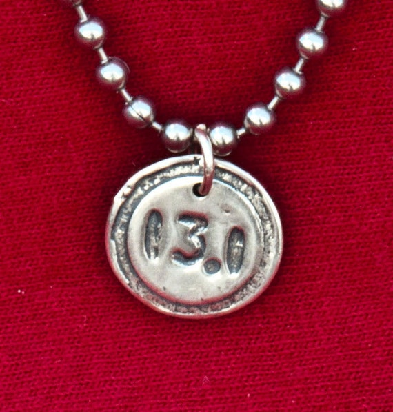 Runners Jewelry - Sterling Silver Pendant - Half Marathon/13.1