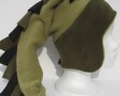 PDF sewing pattern- Dragon tail  fleece hat pattern - Vaappi's hat