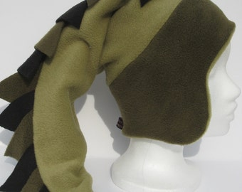 Instant download_PDF sewing pattern- Dragon tail  fleece hat pattern - Vaappi's hat