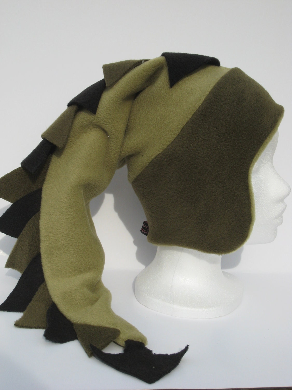 Pdf Sewing Pattern Dragon Tail Fleece Hat Pattern