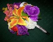 Tropical Bliss Wedding Bouquet // Destination Wedding // Silk Bouquet