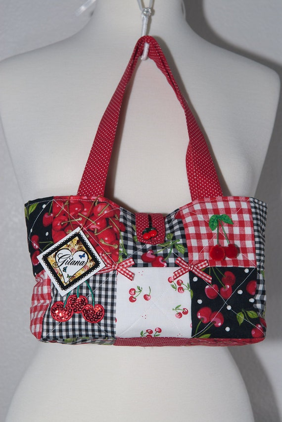 Cherry Quited Purse
