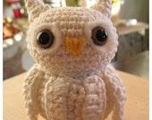 Amigurumi Crochet Pattern : Baby Snowy Owl (PDF file Set Digital Download)
