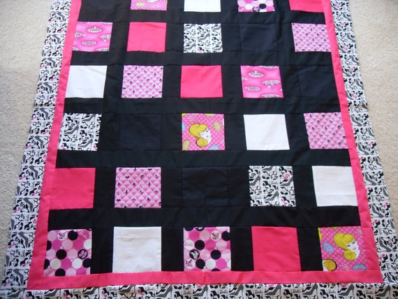 A Trendy Fashionable Barbie Quilt