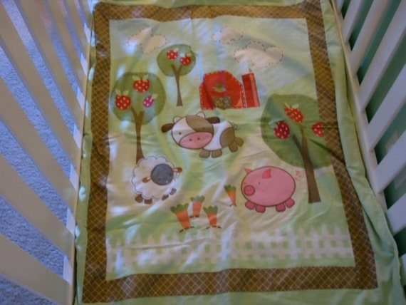 Animals on the farm blanket