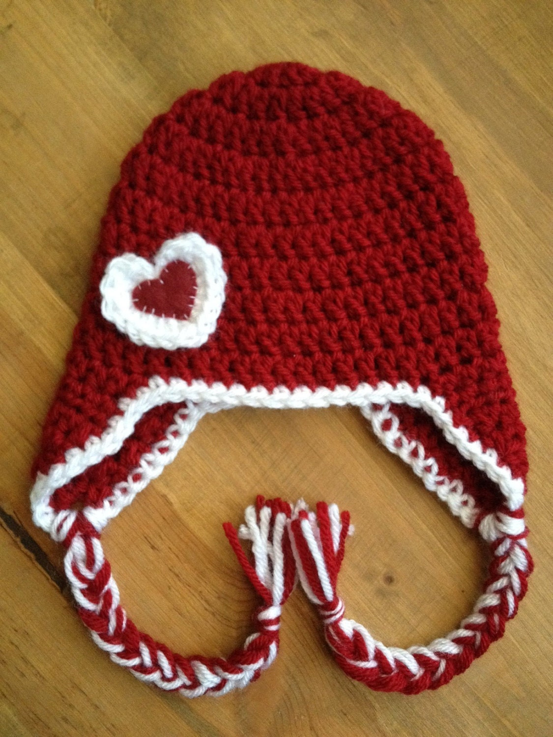 Crochet Valentine Hat : Crochet VALENTINES DAY beanie hat photo prop by CoconutFrosting