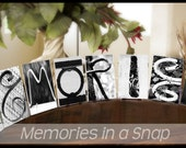 Alphabet Photography Letters Pack of 8 Black and White 4x6 Photo Letters UNFRAMED by Memories in a Snap