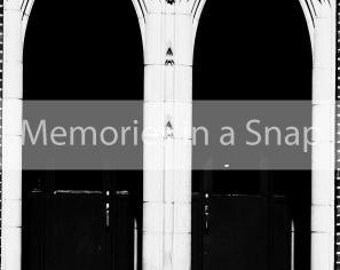Letter M - Alphabet Photography Individual 4x6 Black and White Photo for Name Frames