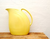 Retro Yellow Pitcher Made by Hall in USA