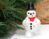 BUY 2 GET 1 40% OFF Plastic Frosty the Snowman Christmas Decoration Black Friday / Cyber Monday