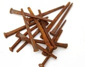 15 Rusty Antique Barn & House Nails