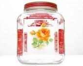 Shabby Chic Hoosier Style Jar
