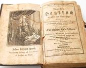 SALE Antique 1831 German Religious Book by Johann Freidrich Starcks Tagliches Handbuch in German