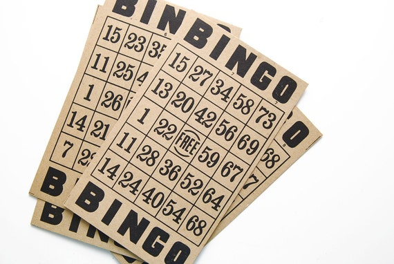 4 Kraft Bingo Cards