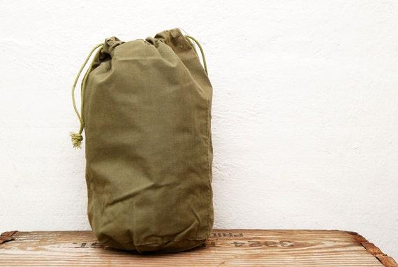 Military Drawstring Bag Kiffe New York Made in Japan